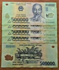 Vietnamese Dong 2 Million (4 x 500000 Note) Vietnam Banknotes Currency Money VND