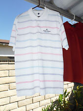 Mens Large Shirt_ANGELES NATIONAL GOLF CLUB_Nike_White with Stripes_Polyester_L