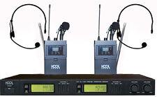 2x100CH UHF Diversity Wireless Lapel&Headset Microphones Mic System KS-812 C