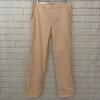 NWT $78 Banana Republic Blush Pink Chino Straight Leg Pants Women's Size 8