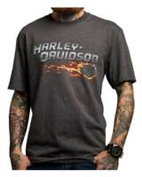 Harley-Davidson Men's Infernus Chaos Short Sleeve T-Shirt, Charcoal 5504-HC8D