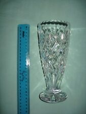 Vintage Royal Doulton? cut glass crystal vase approximately 30 years old