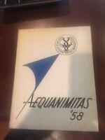 University of Michigan Medical & Nursing School Yearbook Aequanimitas 1958