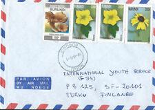 Burundi Air mail cover to Finland, flowers and mushroom
