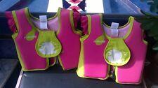 childrens swim/life jacket x 2 pink