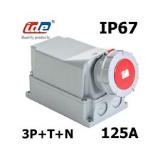 IDE Socle mural 3P+N+T 380V prise 125A IP67 NEUF !