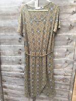 Fat Face Dress Size 8 Short Sleeve Waist Tie