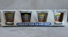 Official Super Bowl 33 Hunter Collector Glass Set 4 Shot Glass Set Miami Florida
