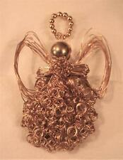 Unique Large Wire-Wound Goldtone Praying Angel Sculpted Brooch Pin
