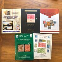 LOT OF 6 - Robert Siegel , Nutmeg , Stanley Gibbons , Shreves  - Auction Catalog