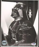 JAMES EARL JONES, DAVE PROWSE Signed DARTH VADER 8x10 Official Pix Photo PSA/DNA