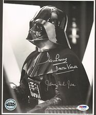 "JAMES EARL JONES & DAVE PROWSE Signed ""DARTH VADER"" 8x10 Photo PSA/DNA #V79474"