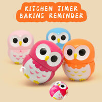 55 Minute Kitchen Timer Alarm Mechanical Owl Shaped Timer Clock Counting Tools