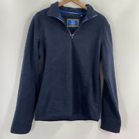 Vintage 1946 Mens Blue Collared Long Sleeve Quarter Zip Sweater Size XL