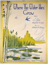 Where The Water-lilies Grow 1919 Sheet music Art By Starmer