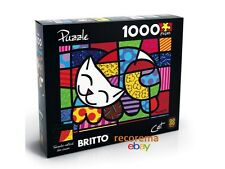 ROMERO BRITTO CAT PUZZLE 1000 PCS (SIZE:  27.4 in x 19.6 in)  SHIPPING FROM  USA