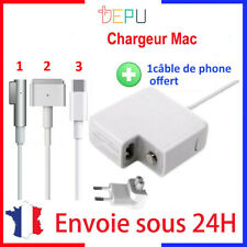 Chargeur alimentation compatible C MAGSAFE 1L/2T 45/60/85W pour Macbook air pro