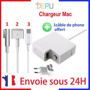 Chargeur alimentation compatible C MAGSAFE 1L/2T 45/60/85W pour Macbook air pro