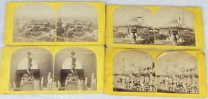Lot of 4 Stereoviews Rare Early Images Paris Exposition Universelle 1867 French
