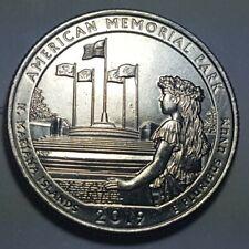 2019 D American Memorial Park Quarters Retained Interior Die Break Error Coin Bu