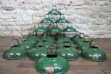 Old Vintage Coolicon Green Metal Industrial Lamp Shades x23