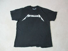 Metallica Concert Shirt Adult Extra Large Black White Rock N Roll Band Tour *