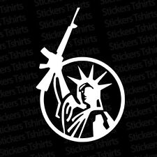 Statue of Liberty Gun Decal Sticker 2nd Amendment AR15 Molon Labe