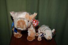 KNUCKLES the PIG - Farm Animal - Ty Beanie Baby & BUDDY - MWMT  -  Too Cute