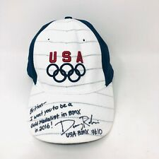 USA Olympic Nike Team Hat Cap Autographed BMX Bike Racer #10 Donny Robinson
