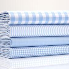 Coton Classiques - Vichy & Rayure - Bébé Bleu X 4 - Demi Mètre Paquet - Coton