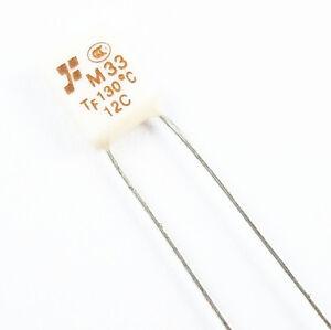 100pcs Nouveau RH 130 ℃ 266 ℉ Thermique Fusible 2 A 250 V