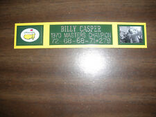 BILLY CASPER 1970 MASTERS CHAMP ENGRAVED NAMEPLATE FOR PHOTO/DISPLAY/POSTER