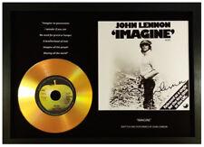 JOHN LENNON 'IMAGINE' SIGNED PHOTO GOLD CD DISC DISPLAY COLLECTABLE MEMORABILIA