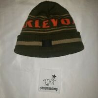 Authentic Oakley olive green tan and orange Beanie Hat Winter Soft