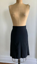 NARCISO RODRIGUEZ black WOOL silk skirt deadstock ITALY 38 UK 6 US 4 fits a 2