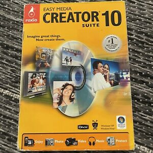 🌸 BRAND NEW FACTORY SEALED ❣️Roxio EASY MEDIA CREATOR 10 SUITE (OLD VERSION)
