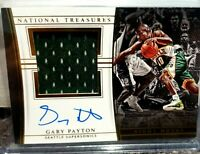 Gary Payton National Treasure Night Moves  Signature Worn Jersey Patch