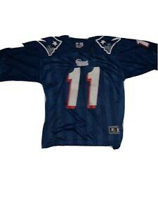 Vintage New England Patriots Drew Bledsoe Jersey Starter Men's size L 48