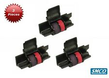 More details for 3 ink roller for olivetti logos 94 black red superior quality compatible by smco