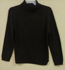 Charter Club 100% Cashmere Black Turtleneck Sweater Size S MSRP $139