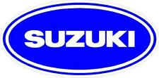"#654 (2) 3"" Suzuki  motorcycle helmet decal sticker Gloss Blue Vintage Vinyl"