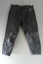 "AKITO BLACK LEATHER BIKER TROUSERS + CE ARMOUR: WAIST 36""/I. LEG 27"" (SHORT FIT)"