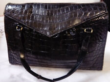 Art Deco 1920s Finnigans Manchester, Faux Crocodile, Leather Flap Baguette Bag