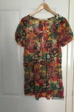 ZARA FLORAL BEACH SHEER DRESS HOLIDAY SIZE 10/12 WORN ONCE