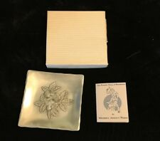 """Wendell August Carved Square Plate 4.5"""""""