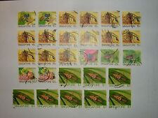 1985 SINGAPORE INSECTS STAMPS x 28 VFU