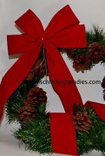 10 Stück Rote Fertig Schleife, Außendekoration, Advent, Weihnachten, Christbaum