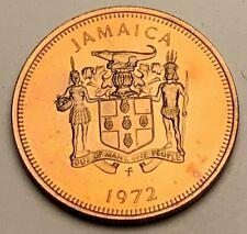 1972 JAMAICA 10 CENTS BU UNC COLOR TONED COIN #2