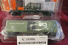 NEW Lionel 6-26776 US ARMY Operating BOXCAR + ARMY FLATCAR w/ Van =TWO NEW ITEMS