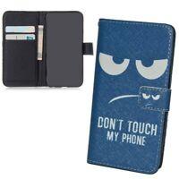 Sony Xperia M5 Hülle Case Handy Cover Schutz Tasche Flip Schutzhülle Bumper Blau